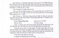 Công văn số 1381 BCH Đoàn tỉnh Quảng Ninh Về việc giới thiệu nhân sự Phó Chủ tịch Hội DNT Quảng Ninh, nhiệm kỳ 2017-2022